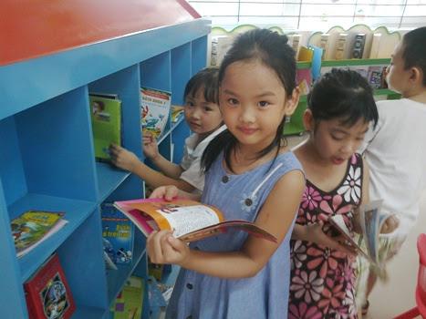 Phòng thư viện trường tiểu học Thăng Long Kidsmart