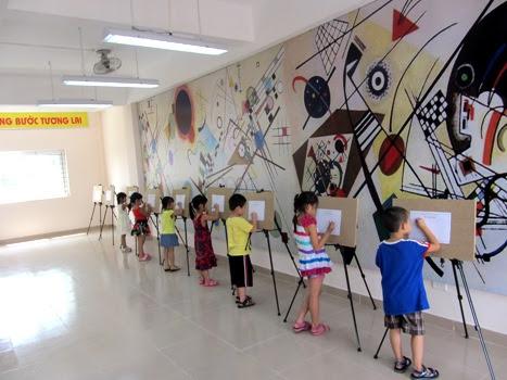 Phòng mỹ thuật trường tiểu học Thăng Long Kidsmart