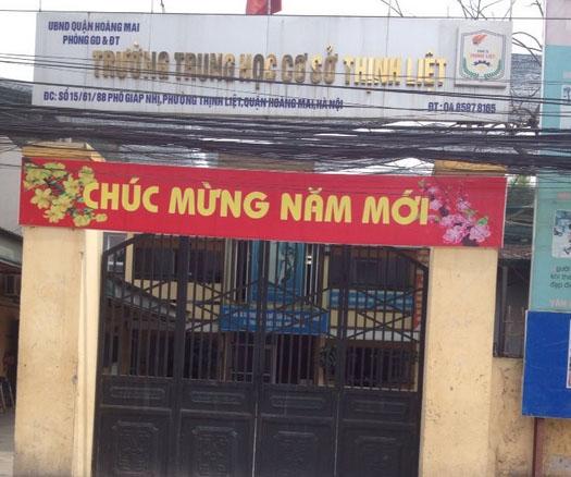 Thịnh Liệt - Trường THCS công lập quận Hoàng Mai - Hà Nội (Ảnh: Nhà Đất 24h)