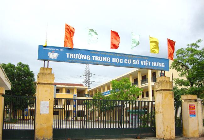 Việt Hưng - Trường THCS công lập quận Long Biên (Ảnh: Nhà đất 24h)