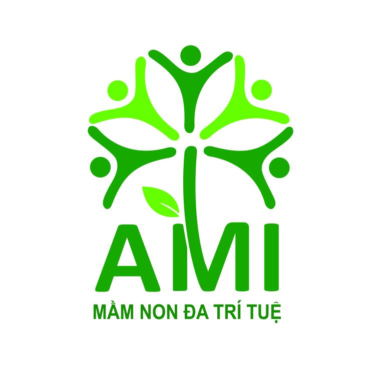 Logo Học viện mầm non AMI, quận Cầu Giấy, Hà Nội (Ảnh: website trường)