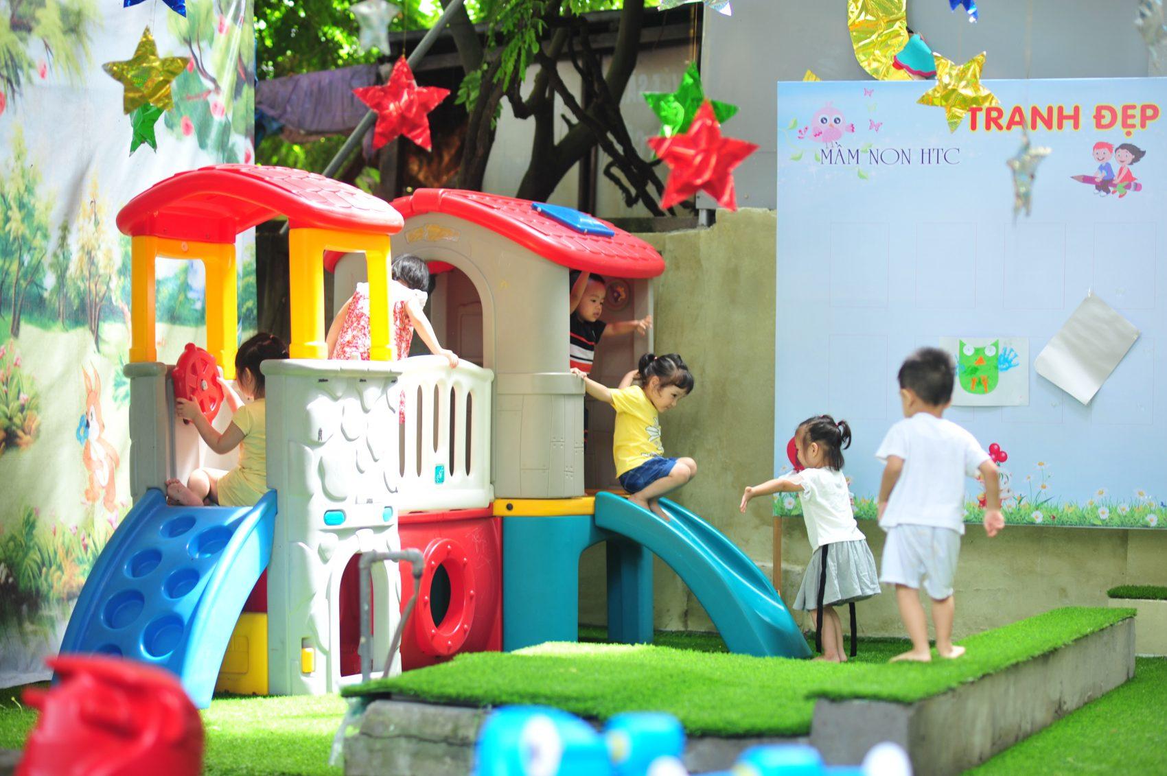 Cơ sở vật chất trường mầm non HTC tại quận Thanh Xuân, quận Hai Bà Trưng, Hà Nội (Ảnh: website trường)