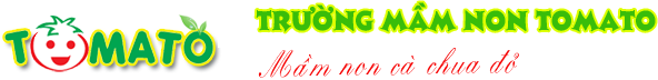 Logo trường mầm non Tomato - Cà chua đỏ tại quận Thanh Xuân, Hà Nội (Ảnh: website trường)