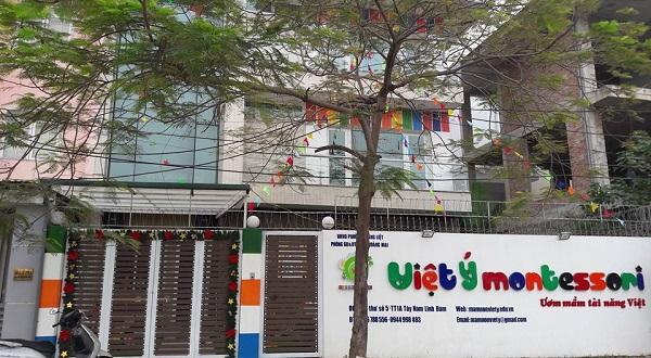 Cơ sở vật chất trường mầm non Việt Ý Montessori, quận Hoàng Mai, Hà Nội (Ảnh: website trường)