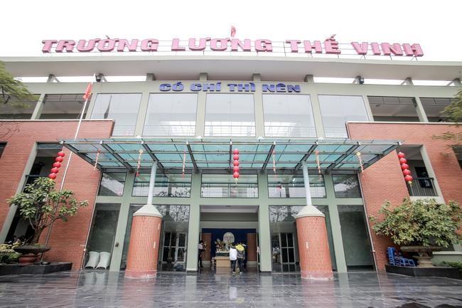 Cơ sở vật chất trường Lương Thế Vinh - Trường THCS và THPT dân lập Hà Nội (Ảnh: Lao Động)