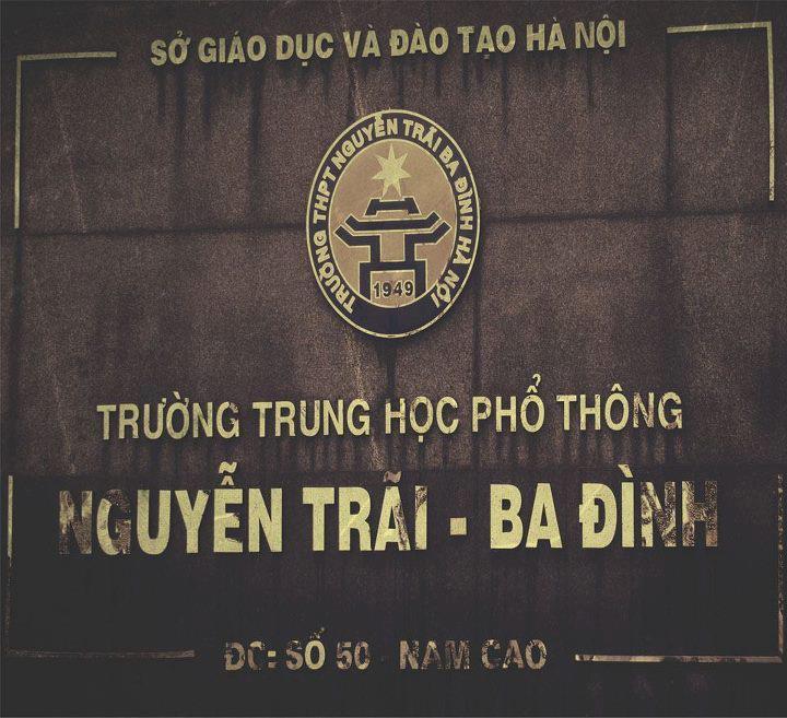 Nguyễn Trãi - THPT công lập quận Ba Đình - Hà Nội (Ảnh: Hoa Lan Studies)