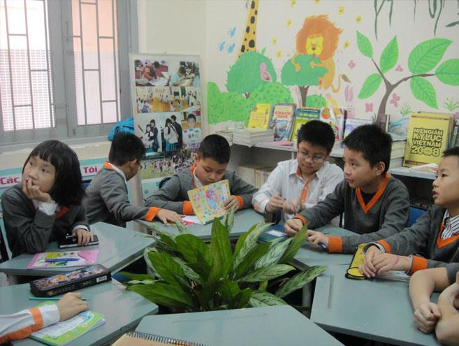 Cơ sở vật chất trường Nguyễn Văn Huyên, trường dân lập liên cấp từ mầm non tới THPT, quận Đống Đa, Hà Nội (Ảnh: website, FB nhà trường)