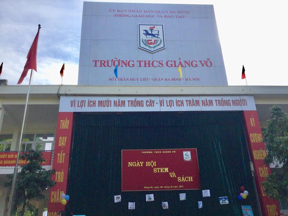 Giảng Võ - THCS công lập quận Ba Đình - Hà Nội (Ảnh: pgdnamtruc.edu.vn)