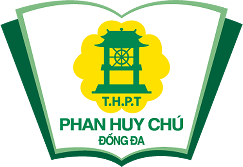 Logo THPT Phan Huy Chú, trường công lập chất lượng cao quận Đống Đa, Hà Nội (Ảnh: website nhà trường)