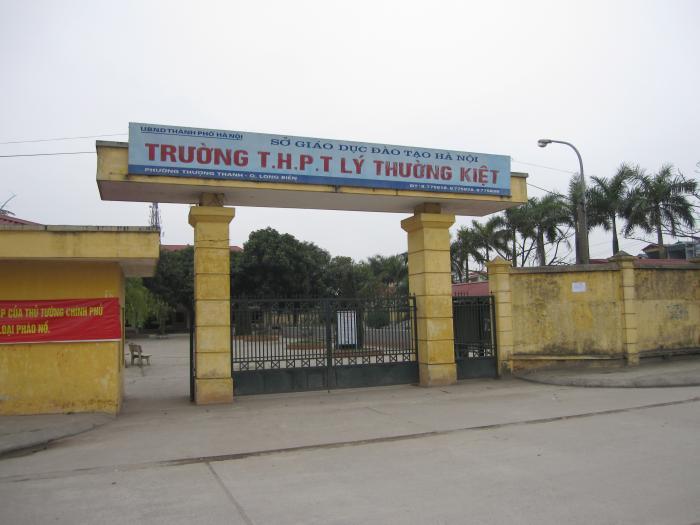 Lý Thường Kiệt - Trường THPT công lập quận Long Biên, Hà Nội (Ảnh: Wikimapia)