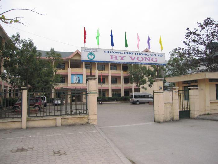 Phổ thông cơ sở Hy Vọng - Trường Tiểu học công lập quận Long Biên, Hà Nội (Ảnh: Wikimapia)