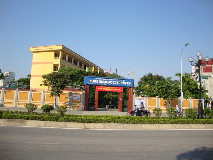 Trường THCS công lập quận Cầu Giấy Yên Hoà (Ảnh: Wikimapia)