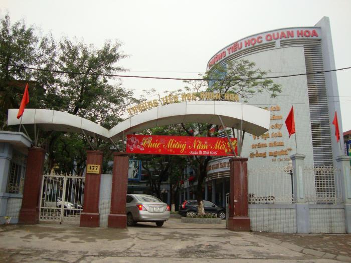 Trường Tiểu học Quan Hoa, Cầu Giấy (Ảnh: Wikimapia)