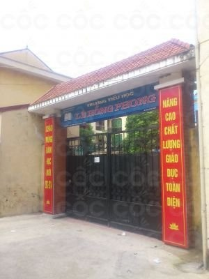 Trường Tiểu học công lập quận Hà Đông - Lê Hồng Phong (Ảnh: Cốc Cốc)
