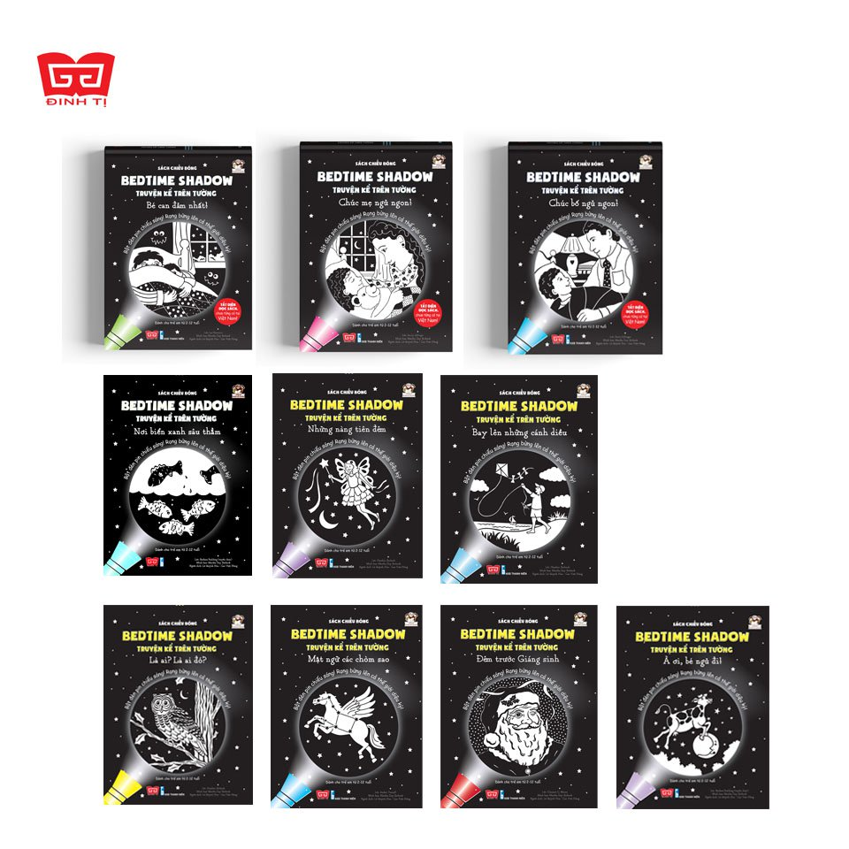Bộ sách chiếu bóng - chuyện kể trên tường - Bedtime Shadow - quà Trung Thu cho bé (Ảnh: Đinh Tị Books)