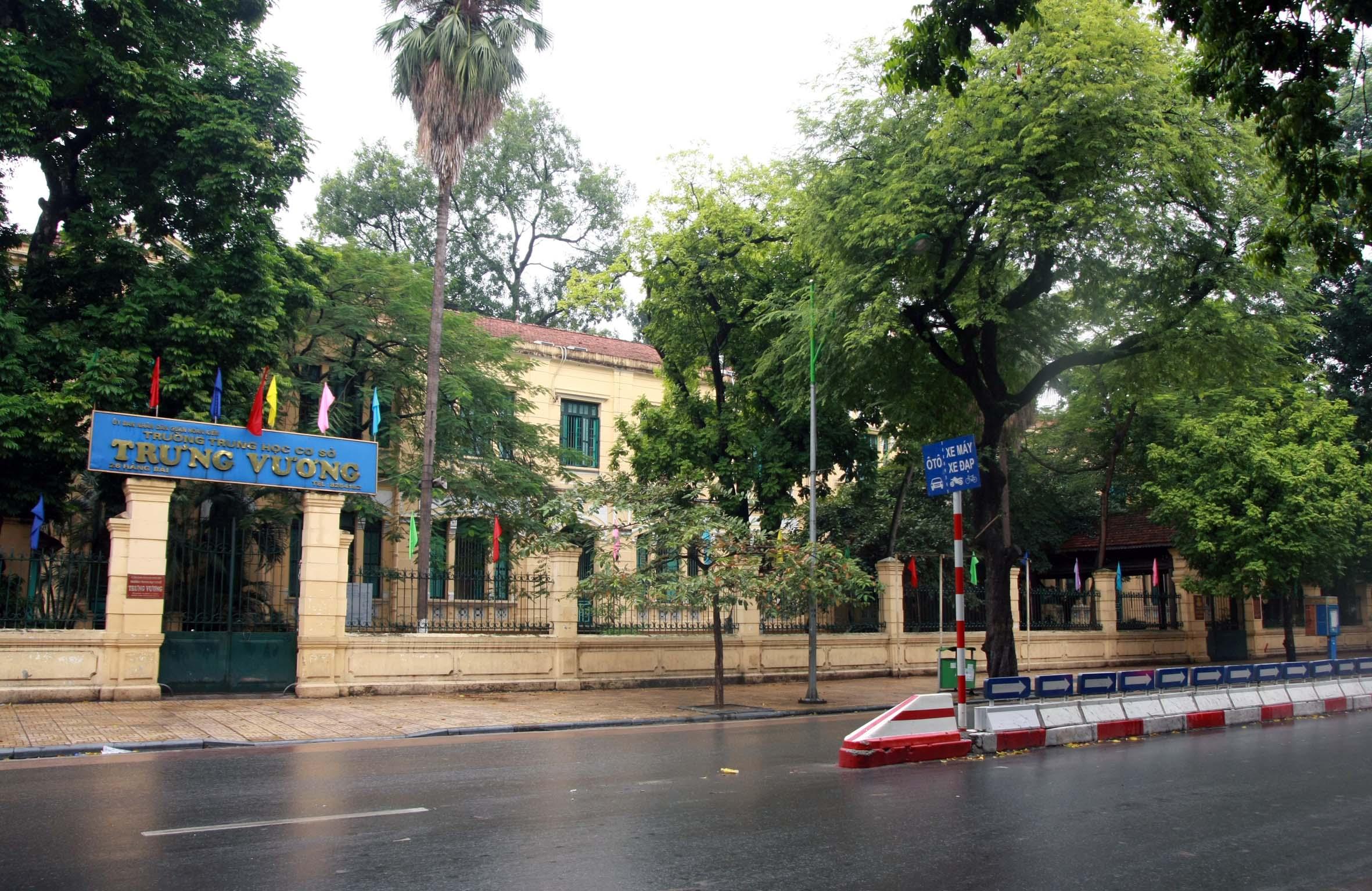 Trưng Vương - Trường THCS công lập quận Hoàn Kiếm, Hà Nội (Ảnh: website nhà trường)
