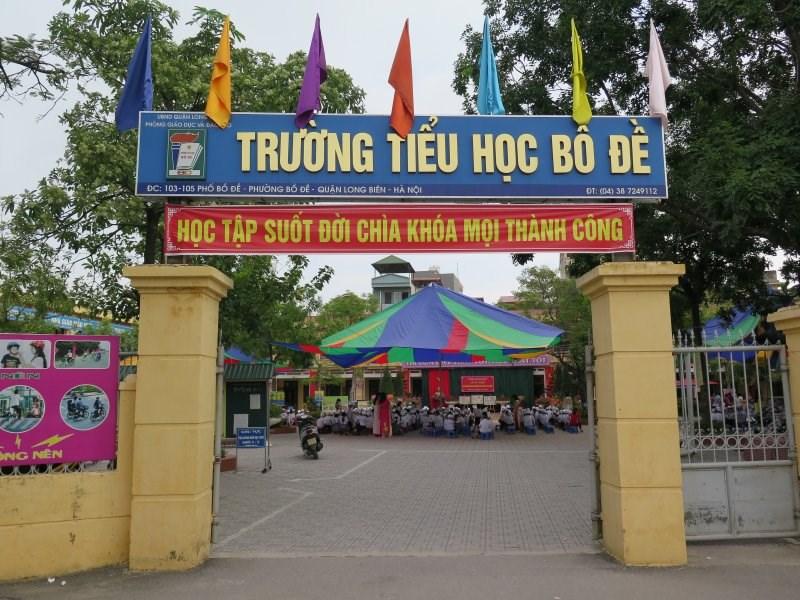 Bồ Đề - Tiểu học công lập quận Long Biên - Hà Nội (Ảnh: website nhà trường)