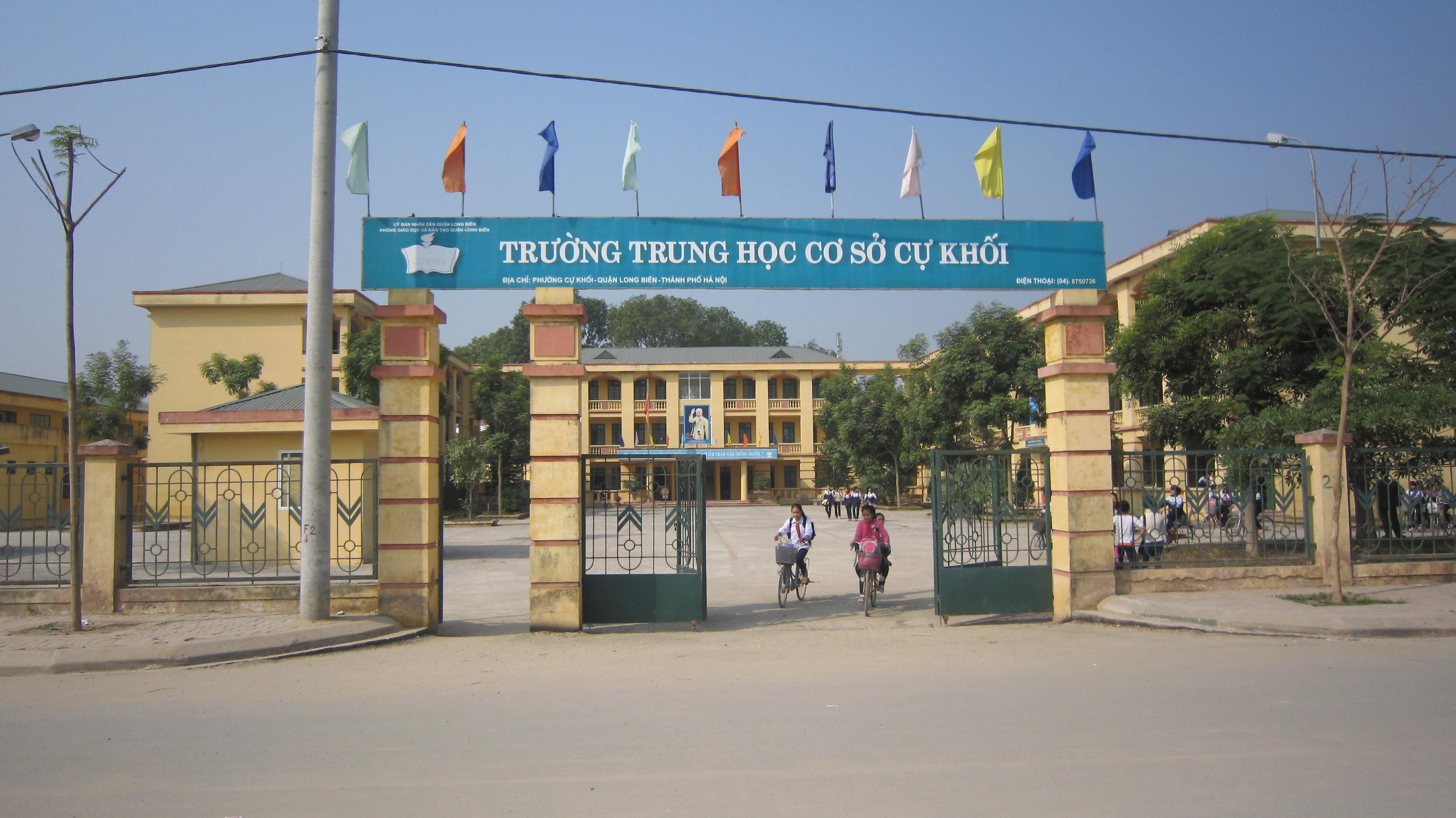 Cự Khối - Trường THCS công lập quận Long Biên, Hà Nội (Ảnh: Phòng Giáo Dục và Đào Tạo quận Long Biên)