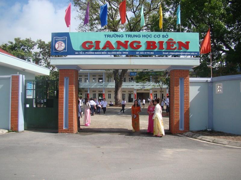 Giang Biên - Trường THCS công lập quận Long Biên, Hà Nội (Ảnh: website nhà trường)