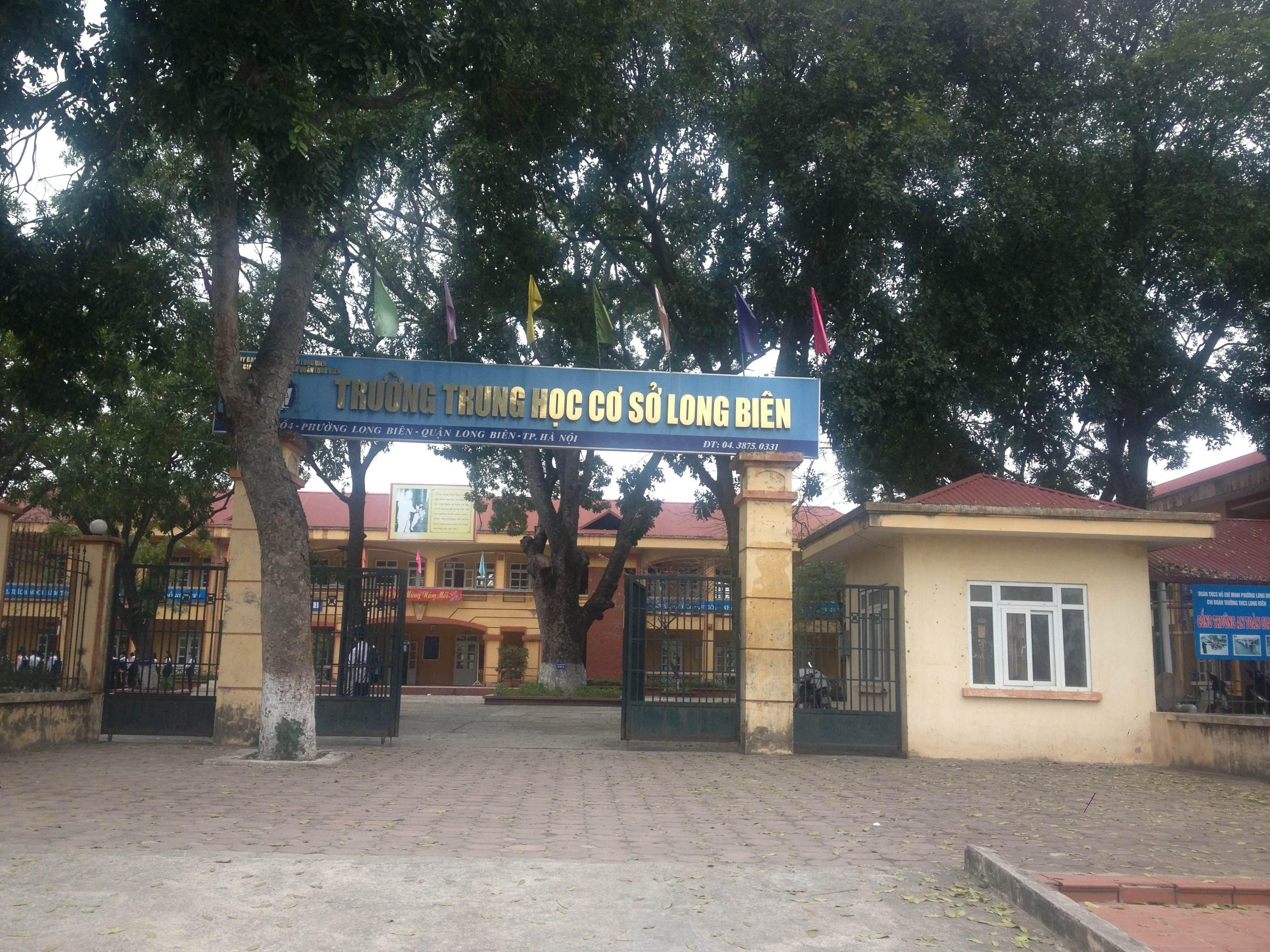 Trường THCS Long Biên, quận Long Biên, Hà Nội (Ảnh: Phòng Giáo Dục và Đào Tạo quận Long Biên)