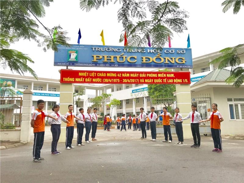 Phúc Đồng - Trường THCS công lập quận Long Biên, Hà Nội (Ảnh: website nhà trường)