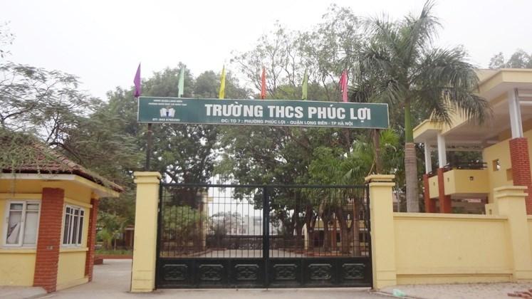 Phúc Lợi - Trường THCS công lập quận Long Biên, Hà Nội (Ảnh: website nhà trường)
