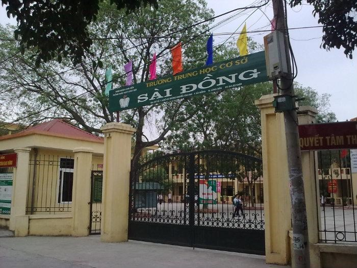 Sài Đồng - Trường THCS công lập quận Long Biên, Hà Nội (Ảnh: Phòng Giáo Dục và Đào Tạo quận Long Biên)