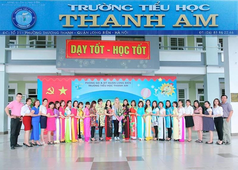 Thanh Am - Tiểu học công lập quận Long Biên, Hà Nội (Ảnh: website nhà trường)