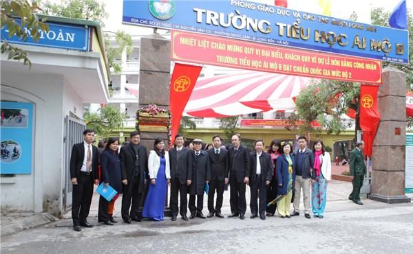 Ái Mộ B - Tiểu học công lập quận Long Biên, Hà Nội (Ảnh: Website nhà trường)