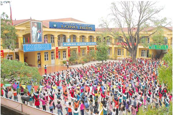 Tiểu học Long Biên, quận Long Biên, Hà Nội (Ảnh: website nhà trường)