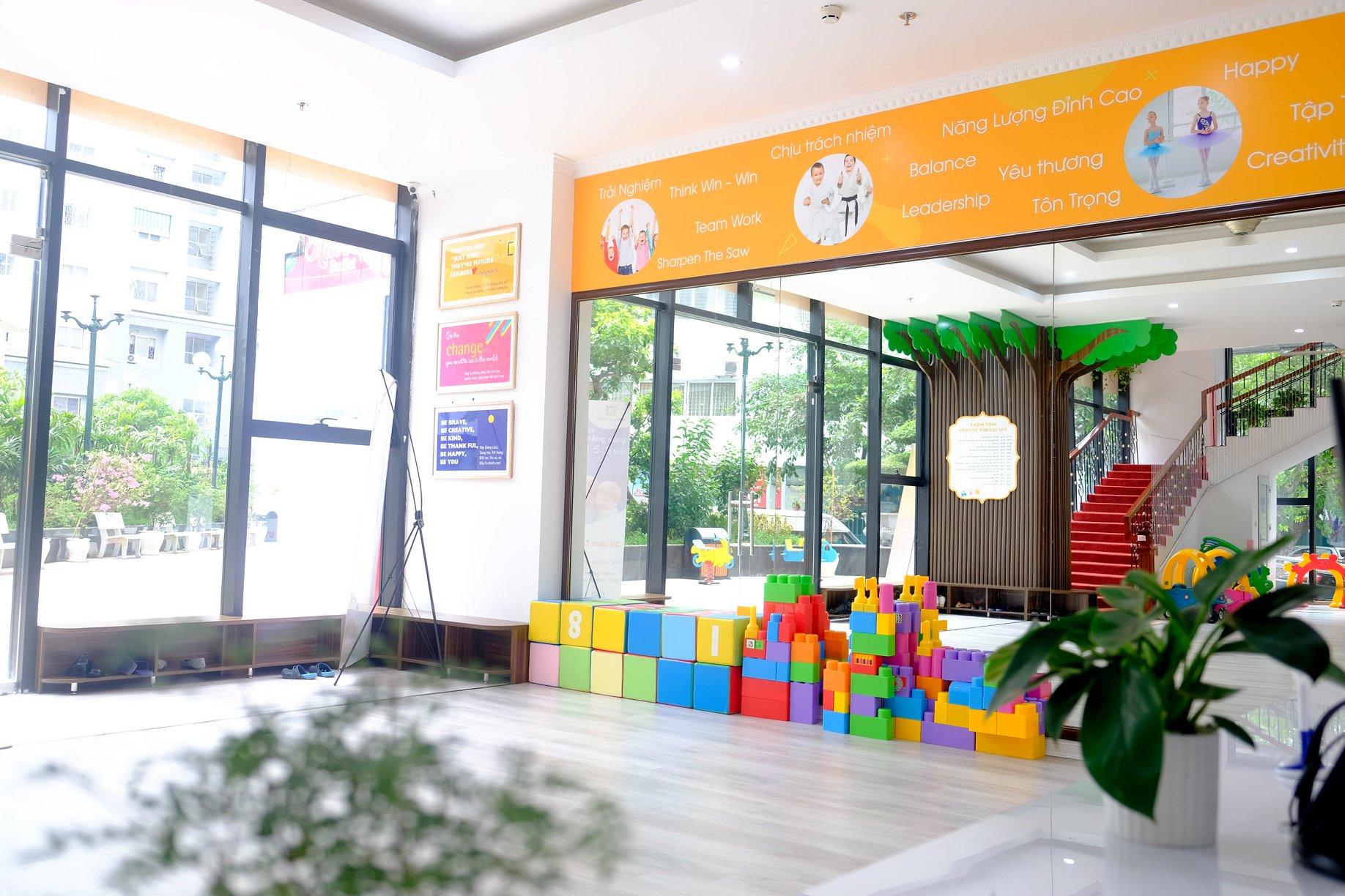 Cơ sở vật chất trường mầm non Leader School - Lãnh đạo tương lai tại quận Cầu Giấy và quận Nam Từ Liêm, Hà Nội (Ảnh: website trường via saobangmedia)