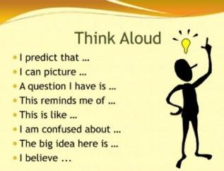 Các cụm từ biểu đạt ý dự đoán, suy luận, vận dụng kiến thức nền... - tựu chung là suy nghĩ của trẻ khi áp dụng phương pháp Think Aloud (Ảnh: TES)