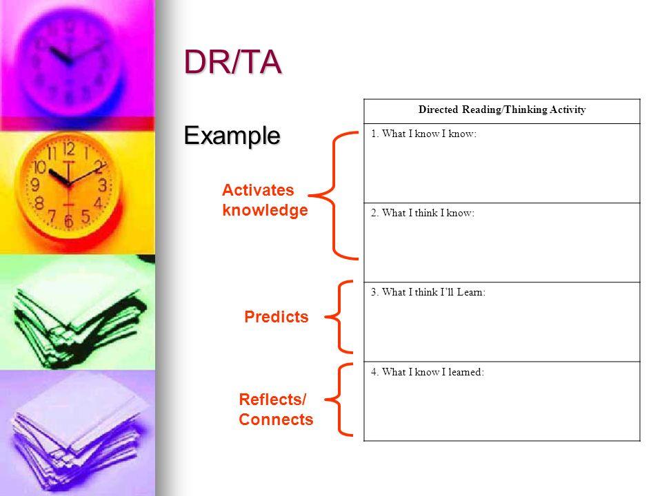 DR-TA – phương pháp dạy trẻ dự đoán khi đọc (Ảnh: SlidePlayer)