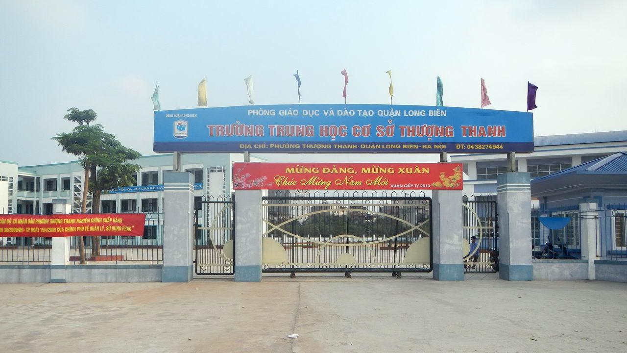 Thượng Thanh - Trường THCS công lập quận Long Biên, Hà Nội (Ảnh: Mapio)