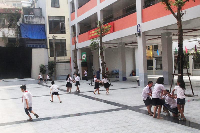 Cơ sở vật chất Tiểu học Chu Văn An, quận Tây Hồ, Hà Nội (Ảnh: Sun Jin Việt Nam)