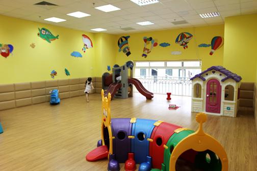 Cơ sở vật chất trường mầm non Teddy Bear tại quận Ba Đình, Hà Nội (Ảnh: website trường)