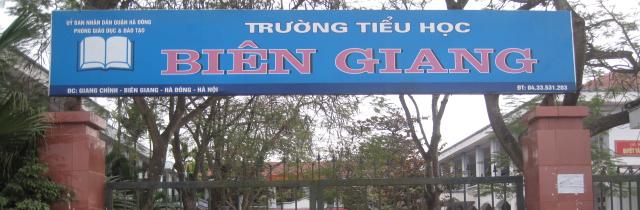 Trường Tiểu học công lập quận Hà Đông, Biên Giang (Ảnh: website nhà trường)