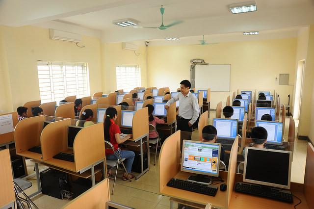 Cơ sở vật chất trường Đào Duy Từ, trường THCS dân lập quận Thanh Xuân, Hà Nội (Ảnh: website nhà trường)