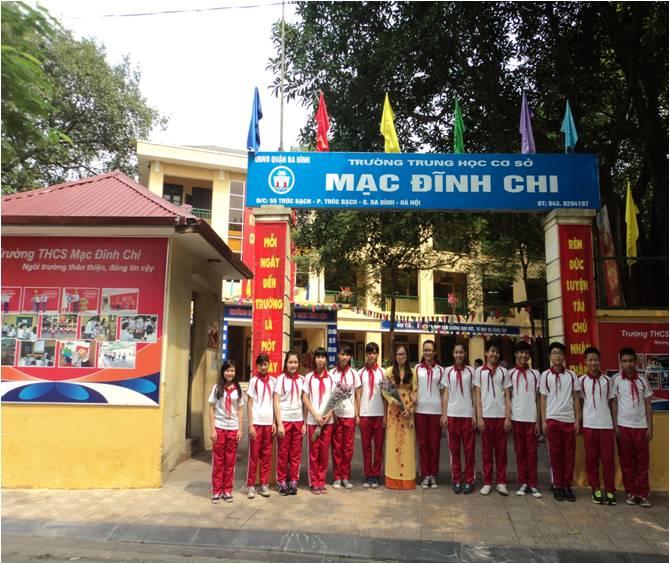 Mạc Đĩnh Chi - THCS công lập quận Ba Đình - Hà Nội (Ảnh: website nhà trường)