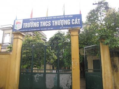 Thượng Cát - Trường THCS công lập quận Bắc Từ Liêm, Hà Nội (Ảnh: website nhà trường)
