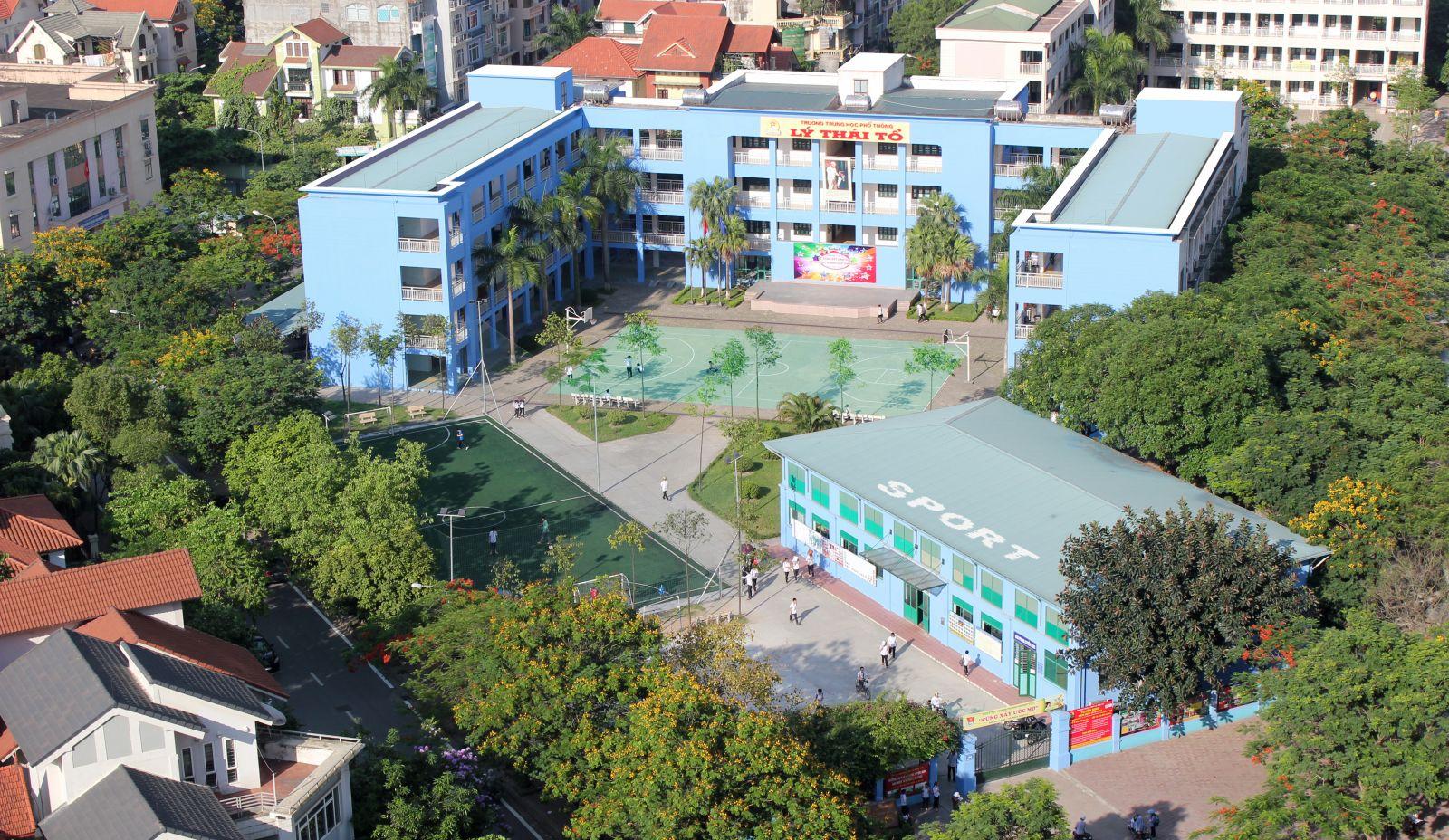 Cơ sở vật chất trường Lý Thái Tổ, cấp THCS - THPT, Cầu Giấy, Hà Nội (Ảnh: website nhà trường)