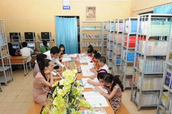 Thư viện trường THPT Phương Nam, quận Hoàng Mai, Hà Nội.