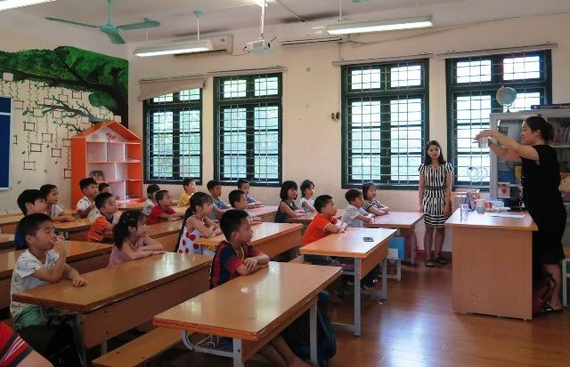 Cơ sở vật chất trường Tiểu học Lý Thái Tổ, quận Cầu Giấy, Hà Nội