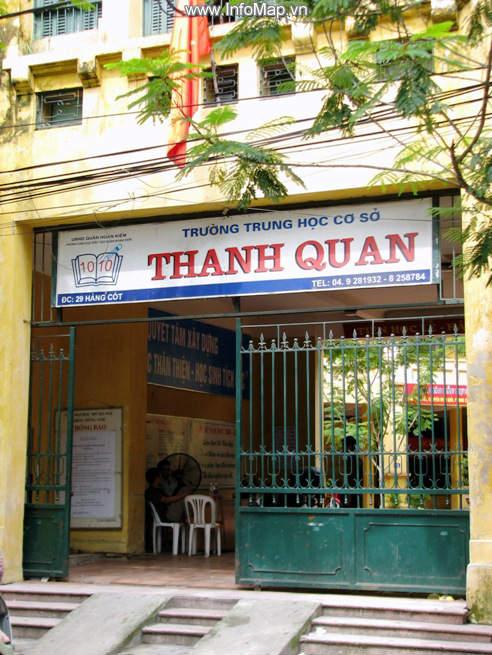 Thanh Quan - Trường THCS công lập quận Hoàn Kiếm, Hà Nội (Ảnh: Timdiachivn)