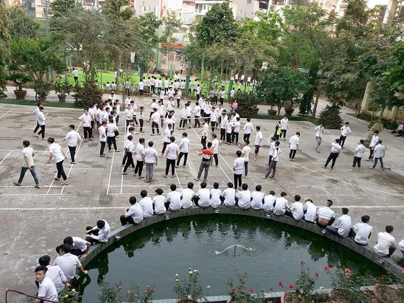 Cơ sở vật chất trường THPT Dân lập Trí Đức, quận Nam Từ Liêm, Hà Nội (Ảnh: website nhà trường)