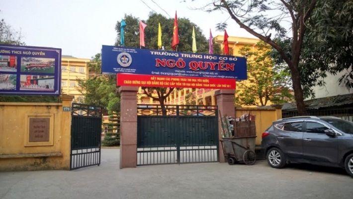 Ngô Quyền - Trường THCS công lập quận Hai Bà Trưng, Hà Nội (Ảnh: Vinalo)