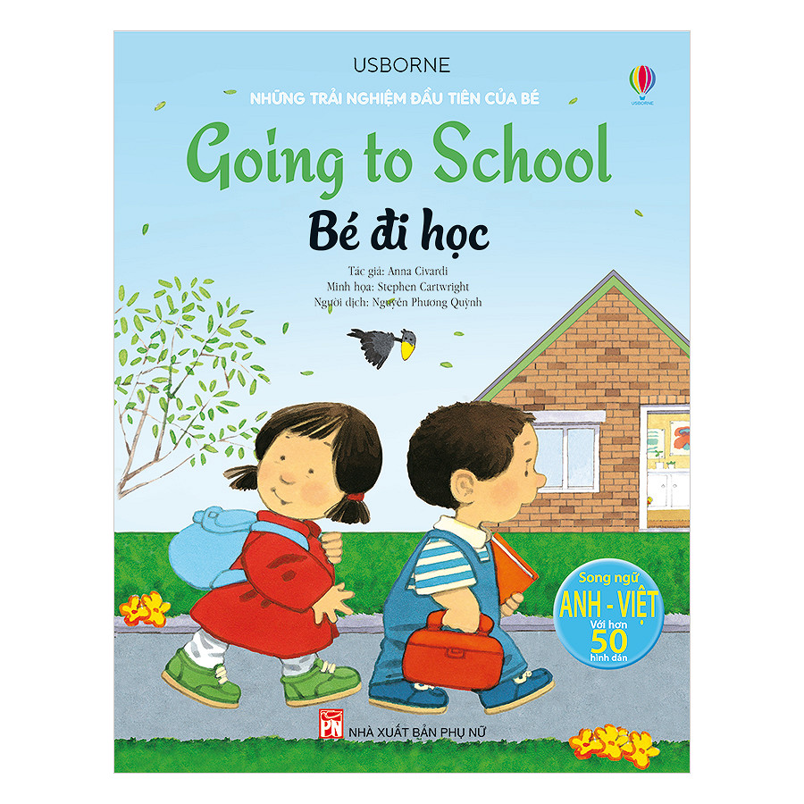Những trải nghiệm đầu tiên của bé - Bé đi học (Ảnh: Tiki)