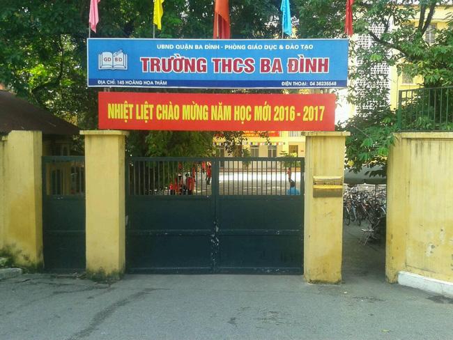 Ba Đình - THCS công lập quận Ba Đình - Hà Nội (Ảnh: VTV)