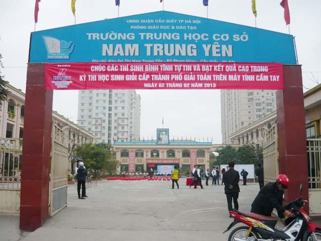 Trường THCS công lập quận Cầu Giấy Nam Trung Yên (Ảnh: Bitex)