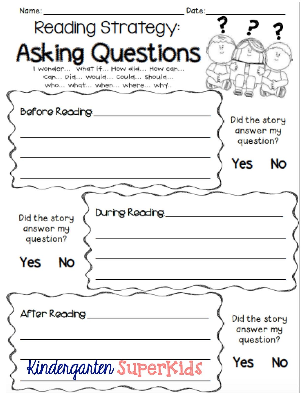 Đặt câu hỏi trước, trong và sau khi đọc